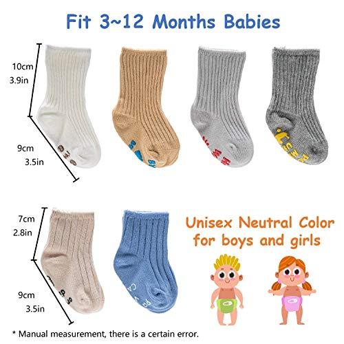 Set of 4 100/% Cotton White Baby Socks Knee-High For 6-12 M Boy Girl socks